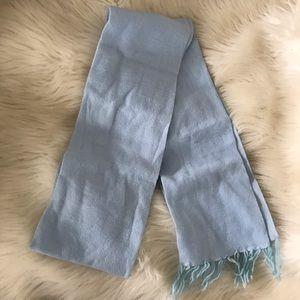 Light / baby blue scarf